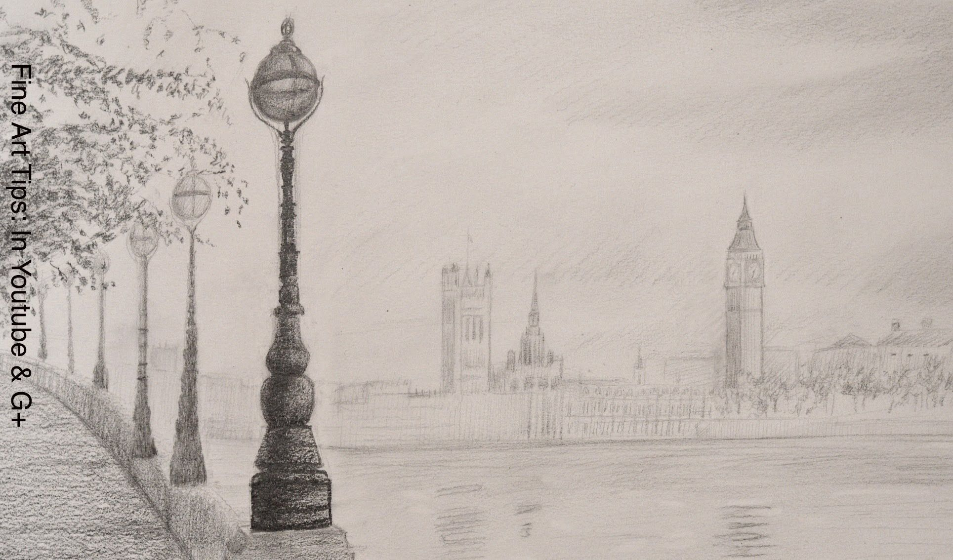 How to draw the big ben how to draw a landscape art in 2019