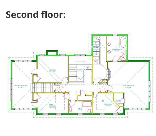 Second floor blueprint of Home Alone house. | Houseplans | Pinterest ...