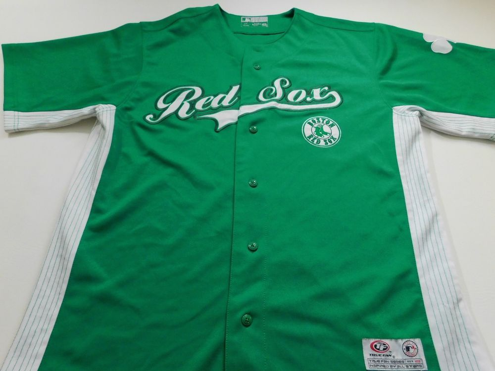 wholesale dealer 8abba 01c04 Boston Red Sox Mens Jersey Green Size Large L Majestic ...