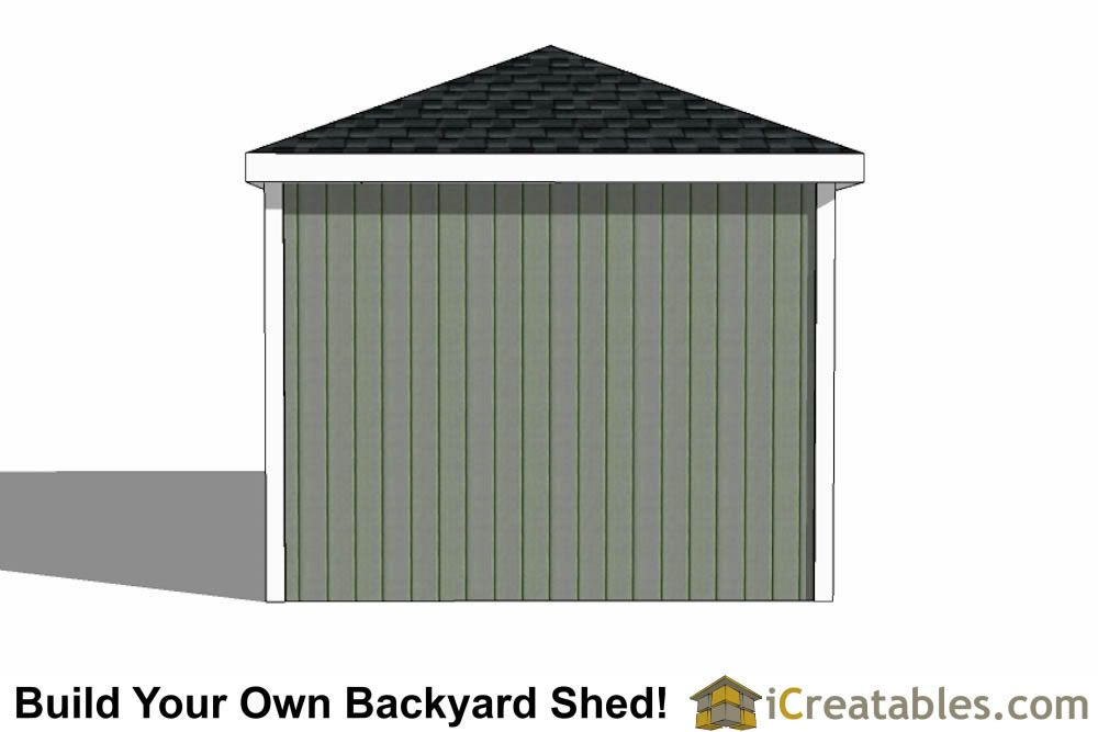 10x16 Hip Roof Shed Plans In 2020 Shed Plans Hip Roof Shed