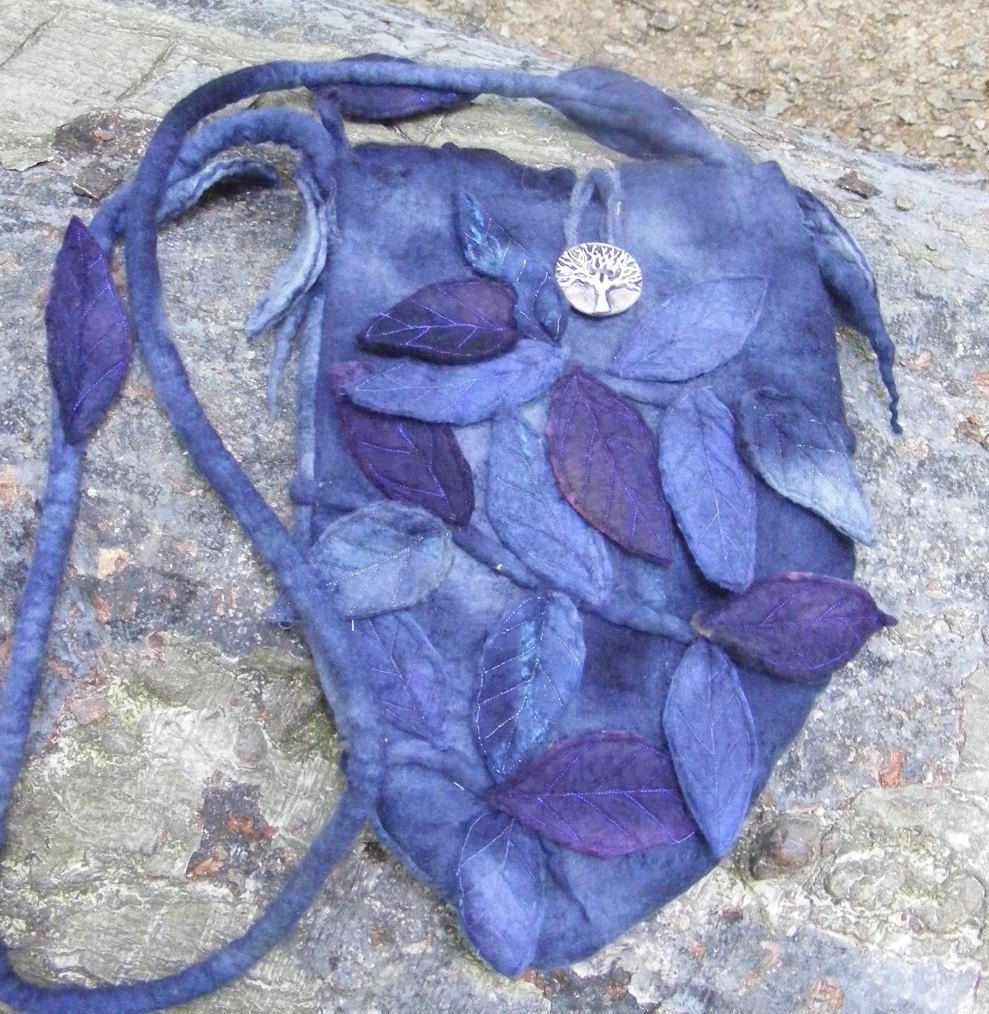 Midnight Faerie Hand Felted Bag