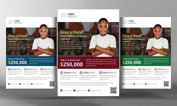 Charity Donation Flyer Template 2 Flyers Posters Charity and - donation flyer template