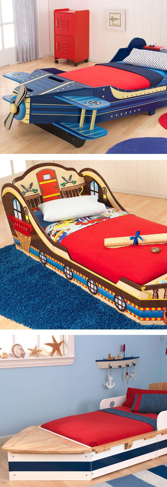 cUte Kids Twin Bed // Bedroom Furniture airplane pirate