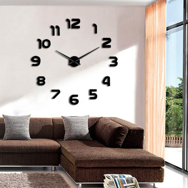 1piece simple analog surface large arabia numerals clock wall