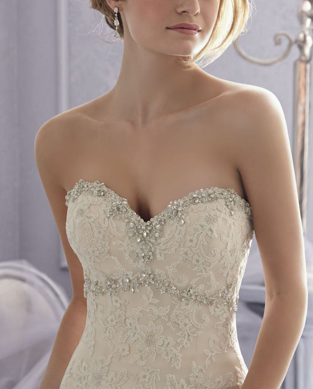 Gold belt for wedding dress  High quality lace and organza With inside bra pads cm width secure