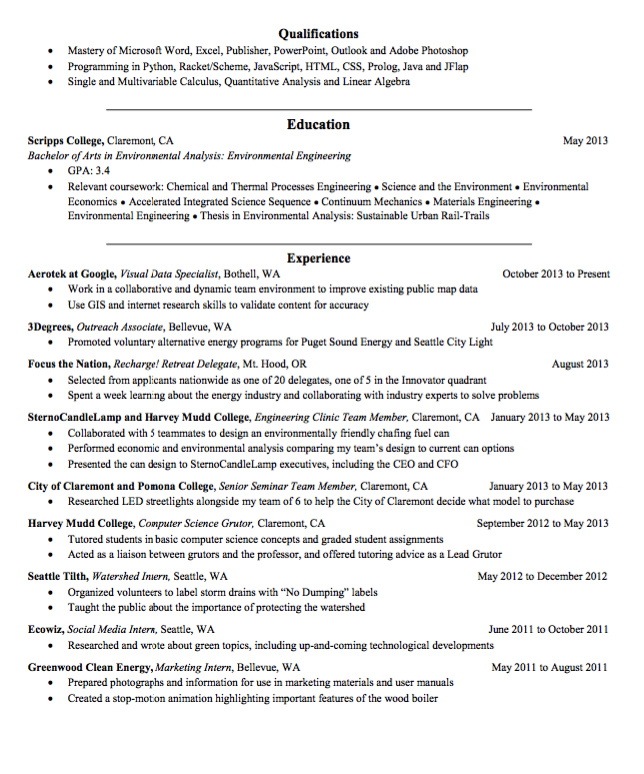 Sample Visual Data Specialist Resume  HttpExampleresumecvOrg