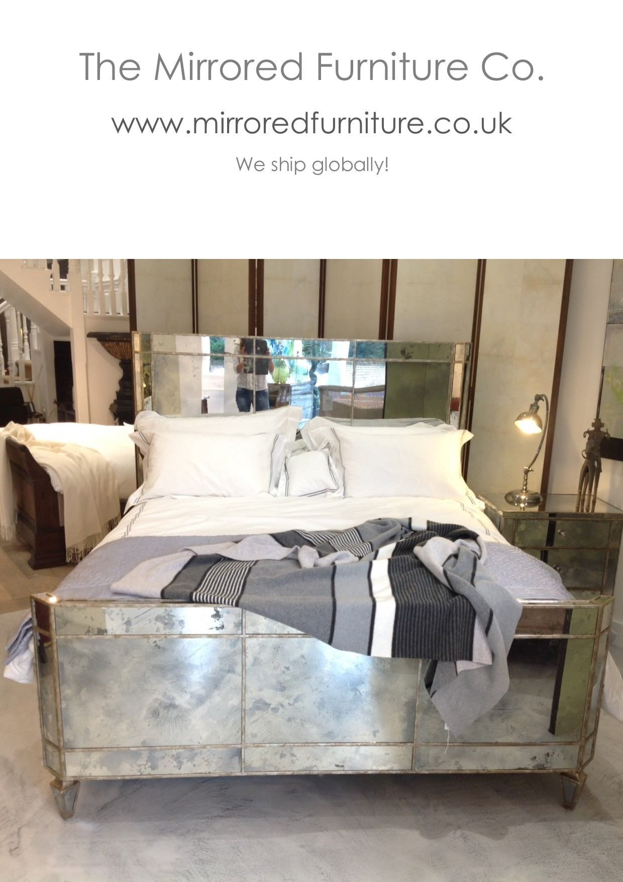 Mirrored Furniture In Bedroom Valentina Mirrored Bed Handmade To Order King Size 595000 Gpb