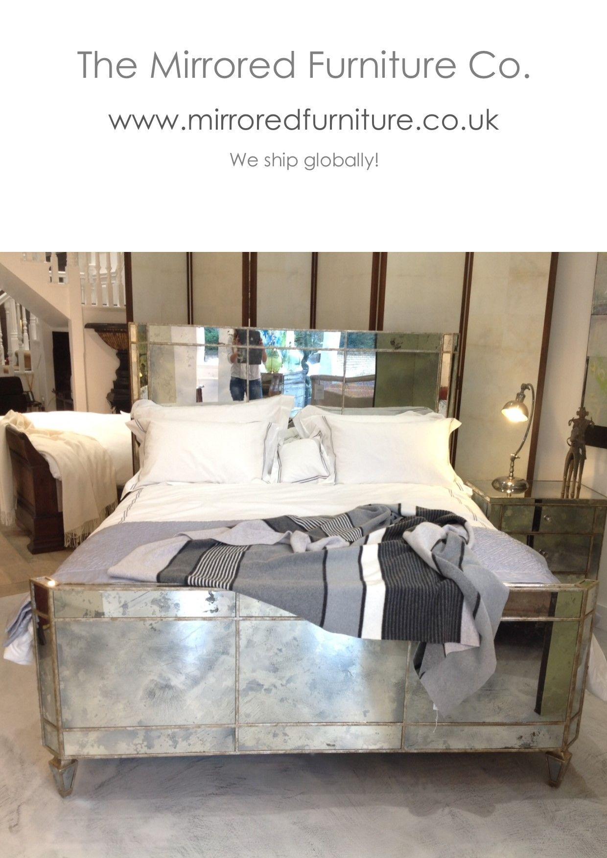 Valentina Mirrored Bed Handmade To Order King Size 5950 00 Gpb Super King 6950 00 Gbp Www Mirroredfurniture C Furniture Mirrored Furniture Nightstand Decor