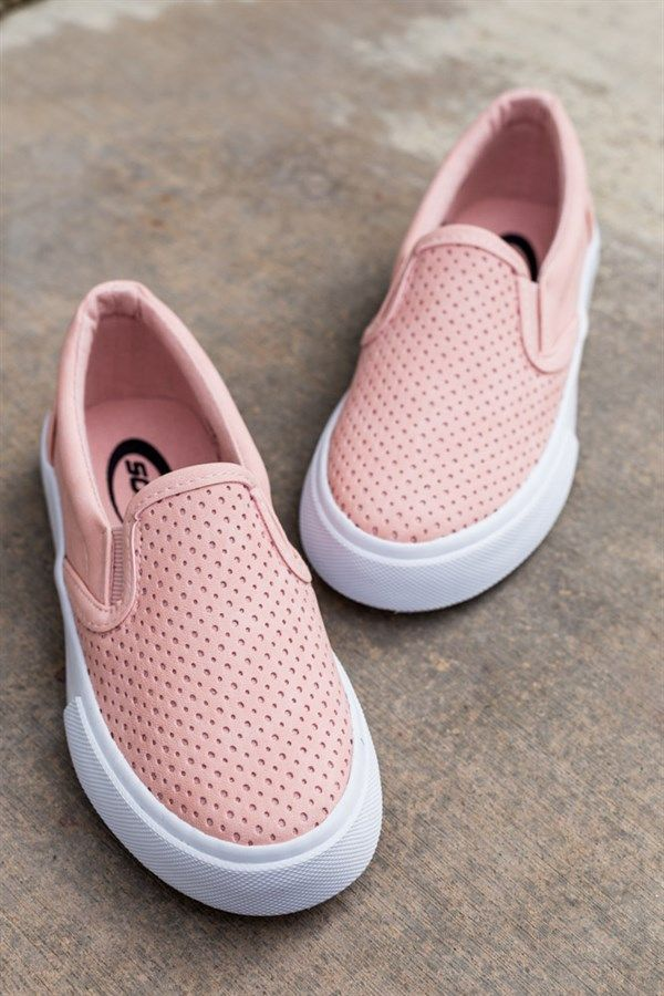 Cat /& Jack Toddler Girls Size 5 7 Glitter Ice Cream Slip On Sneakers Pink NEW