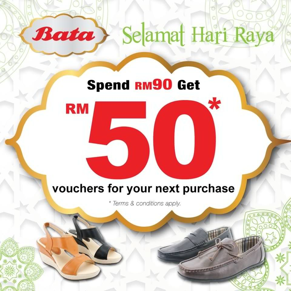 10 Jun-10 Jul 2016: Bata RM50 Voucher for Next Purchase Promotion