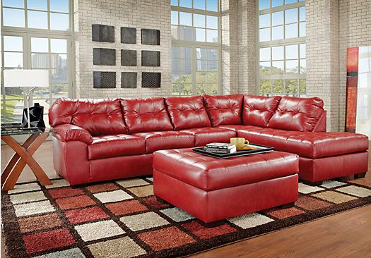 Shop for a Angelo Bay Cardinal Blended Leather 3 Pc Living Room at