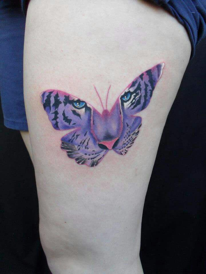 Pin By Michelle On Tattoo Wishlist Tiger Butterfly Tattoo Butterfly Tattoo Tiger Tattoo Design