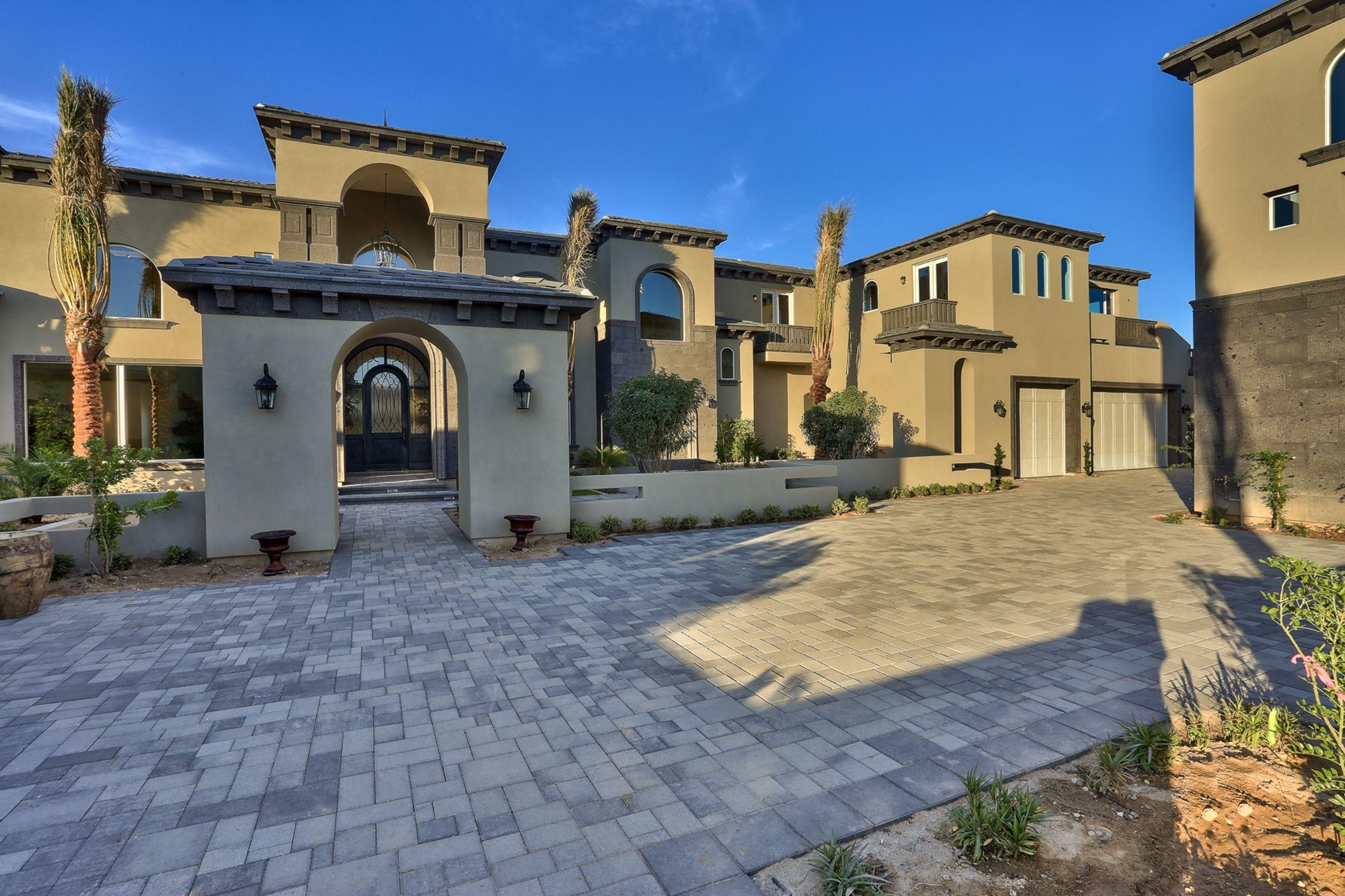 Mediterranean transitional home design front view architectural by  plan llc also rh pinterest