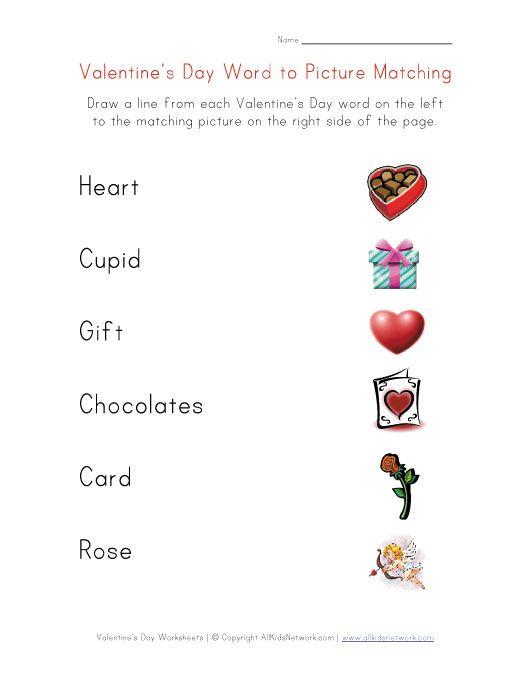 Valentine S Day Worksheets For Kids Actividades San Valentin