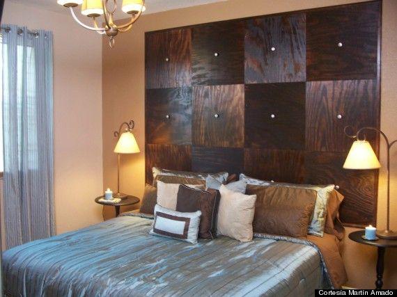 Cabeceras hechas en casa en pinterest azulejos de techo - Cabeceras de cama de madera ...