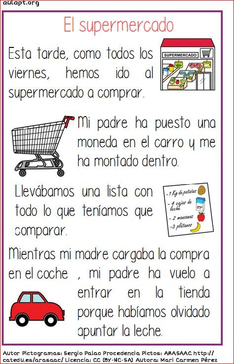Photo of Reading sheet – El Supermercado #ReadComprensiva