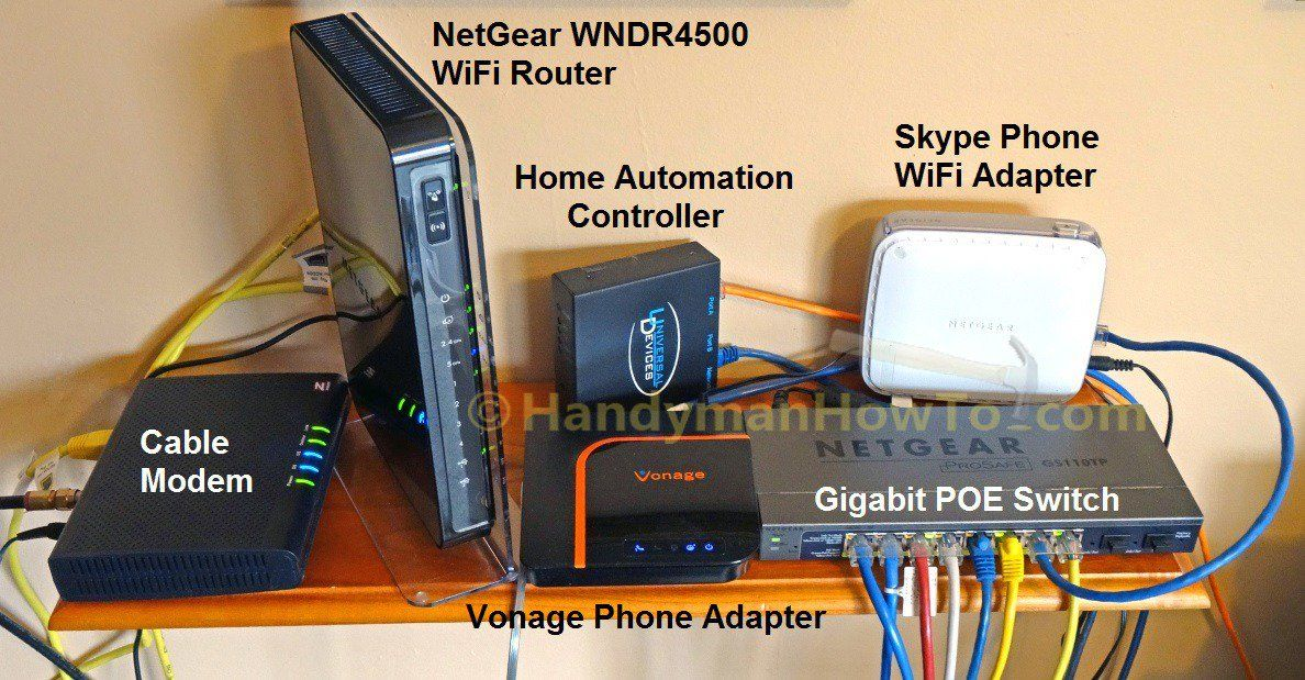 Home Networking Gear Cable Modem Wifi Router And Gige