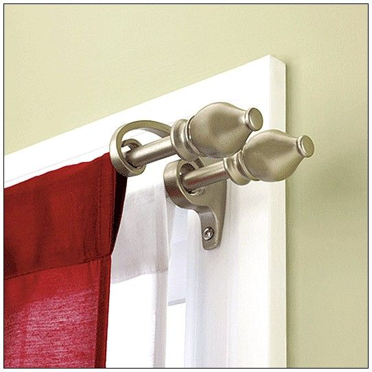 Fancy Double Curtain Pole Double Curtain Rod Set Double Rod