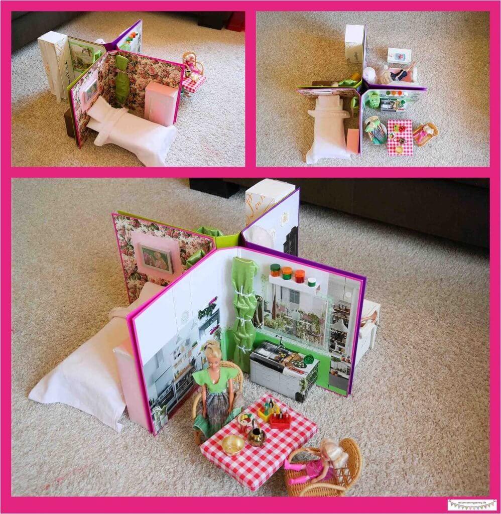 leitzordner diy idee platzsparendes kleines barbiehaus in. Black Bedroom Furniture Sets. Home Design Ideas