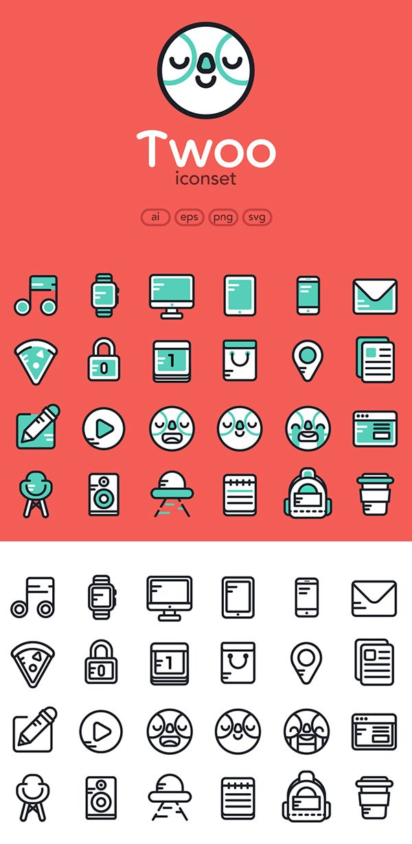 Free Flat Icons Set (AI, EPS, PNG and SVG) - 24 Color & Outline Icons #UXdesign #android #freeicons #psdicons #ios8 #vectoricons