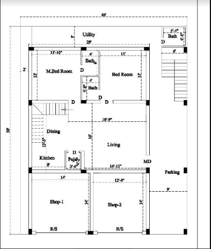 How To Make Measurements Home Plan Every People Want To Know House Plans Home Door Design Duplex House Design