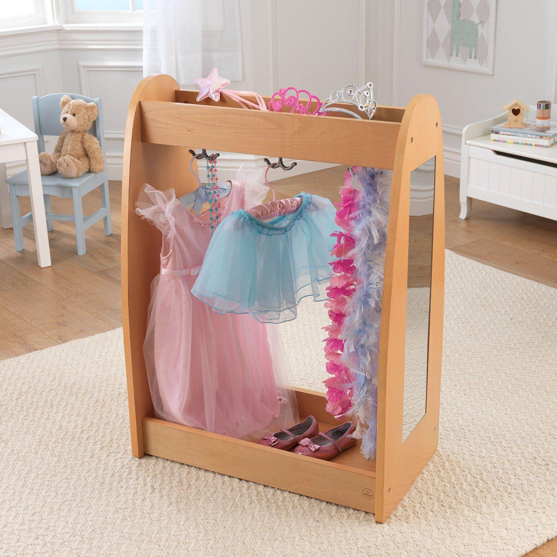 Amazon com: KidKraft Dress Up Unit Natural with Hooks: Toys