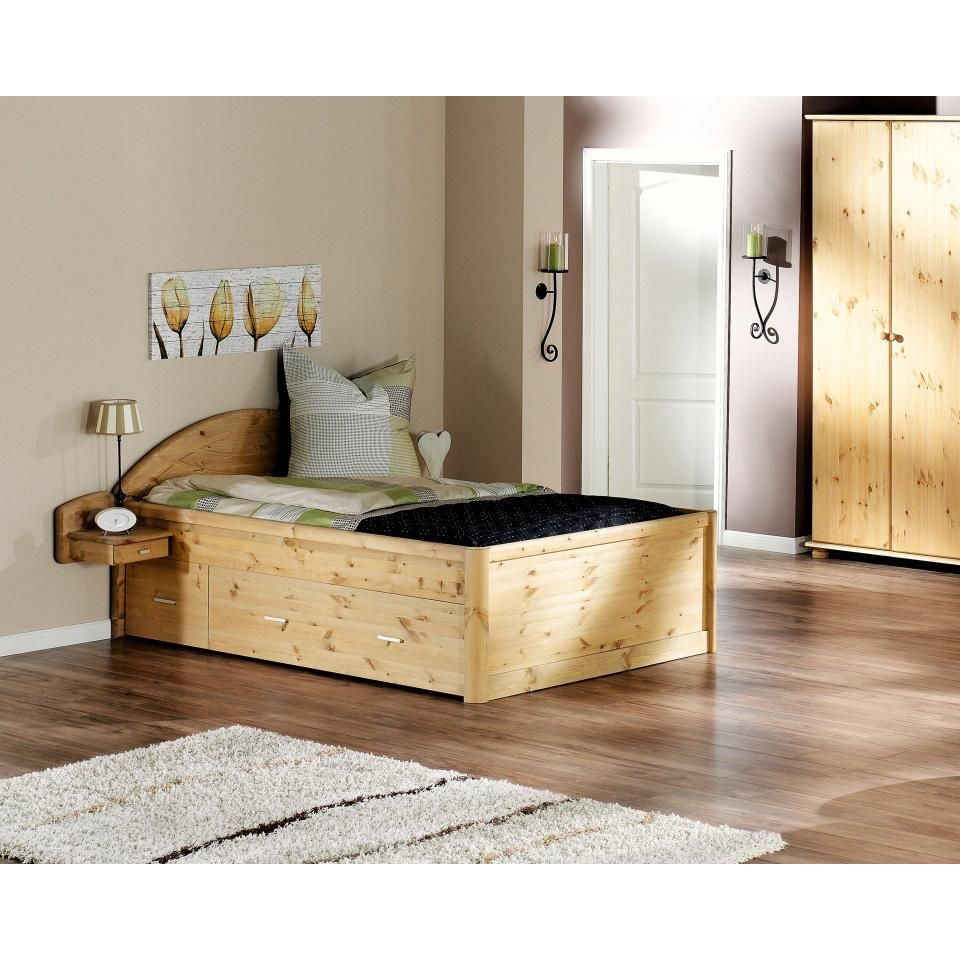 Bett Tina 140x200 Kiefer Natur Lackiert Bett Wohn Design Und Einzelbett Weiss
