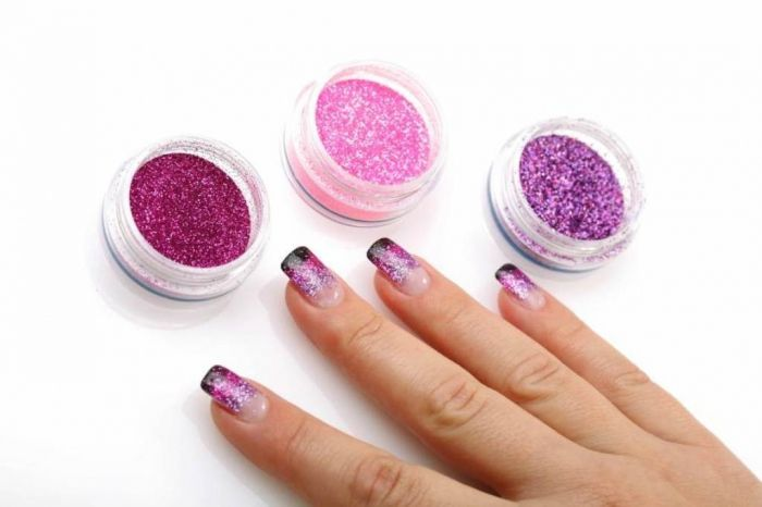 All What You Need to Know about Gel Nails Is Here - Most of the women who suffer from having short nails try to increase the beauty of their natural nails through applying artificial nails that differ i... -  gel-nail-art-cute-gel-nail-design-combined-with-purple-and-pink-glitters-gel-nails-pictures-design ~♥~ ...SEE More :└▶ └▶ http://www.pouted.com/need-know-gel-nails/
