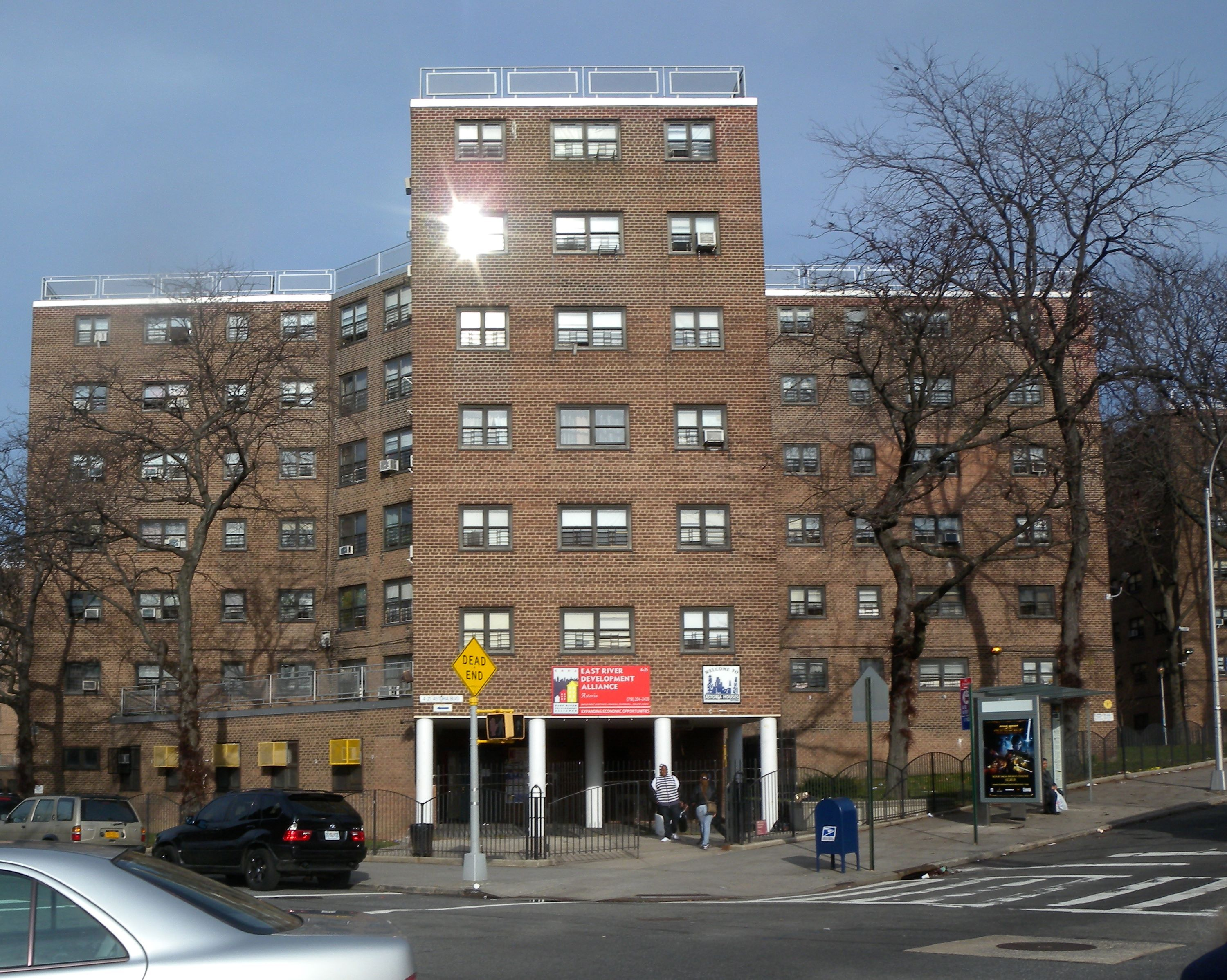 astoria housing projects | across the street from my Sister's pad ...