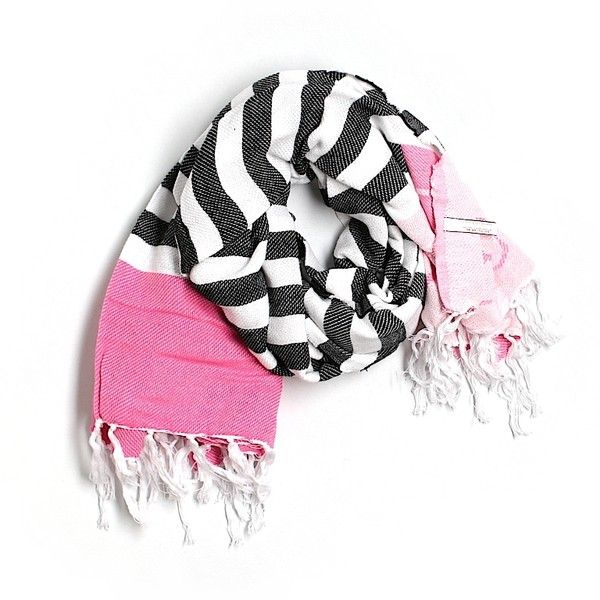 Pre-owned Victoria's Secret Scarf Size 00: Pink Women's Accessories ($29) ❤ liked on Polyvore featuring accessories, pink and victoria's secret