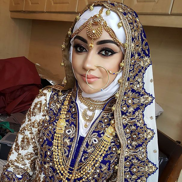 30 sublimes mari es portant le hijab le jour de leur noce. Black Bedroom Furniture Sets. Home Design Ideas