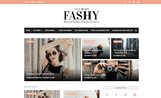 Fashy Blogger Theme Free Blog Fashion Style Fast Loading Template 2019 Free Blogger Templates Free Blog Top Free Blog Sites
