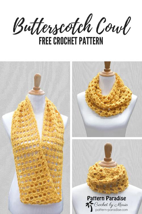 Free Crochet Pattern: Butterscotch Cowl   Crochet   Pinterest ...