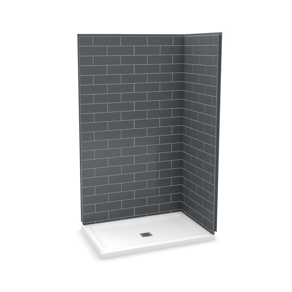 Maax Utile Stone 32 In X 48 In X 83 5 In Corner Shower Stall In