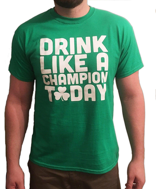 Drink Like A Champion Today T Shirt Cs12cvg4d5z Mens Outdoor