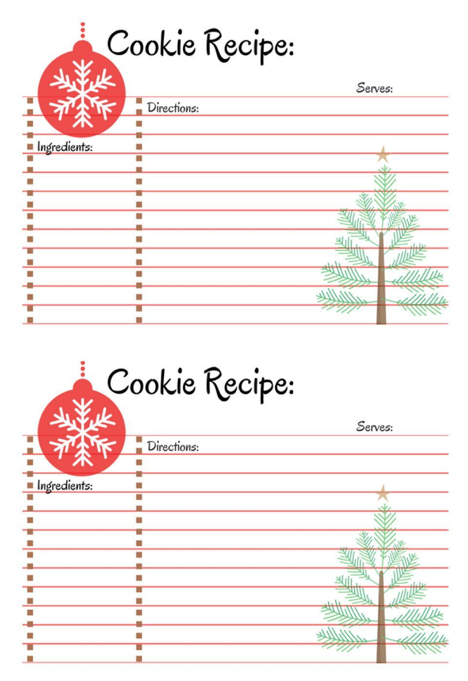 Host A Cookie Exchange Party A Cup Full Of Sass Recipe Cards Template Printable Recipe Cards Recipe Cards