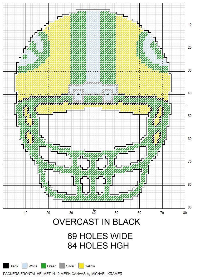 Green Bay Packers NFL Frontal View Football Helmet plastic canvas ...