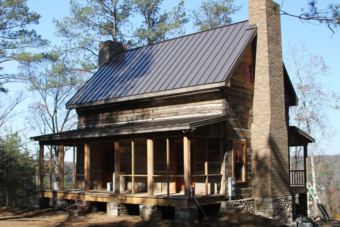 Eagles nest at high falls restoration log cabin rentals for Elevated log cabin