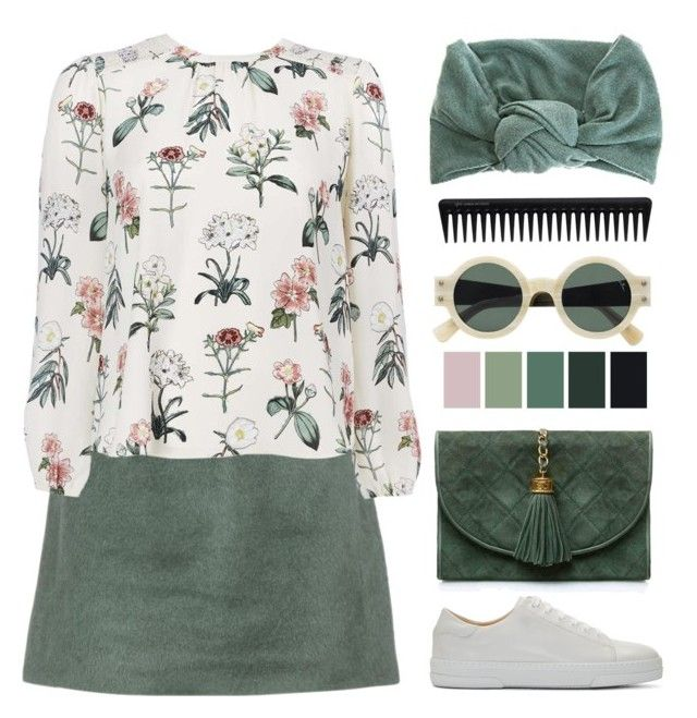 """Untitled #189"" by mathildejohannessen ❤ liked on Polyvore featuring Acne Studios, GHD, Chanel, A.P.C. and Gogreen"