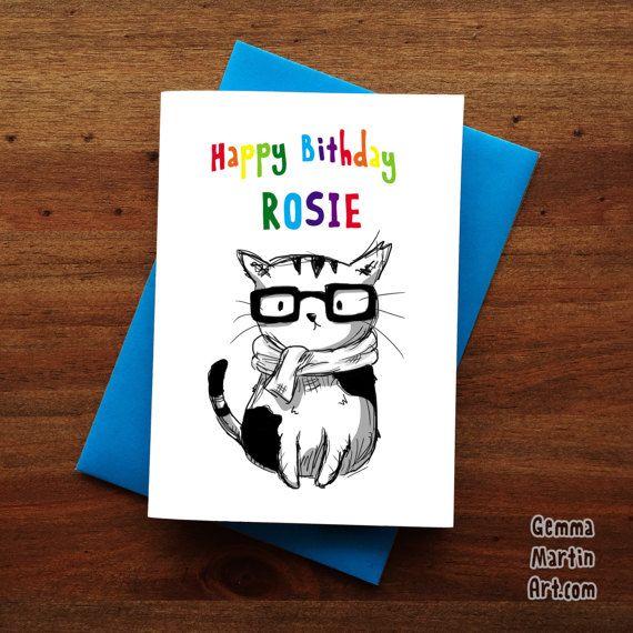 Personalised nerd cat card happy birthday card by gemmamartinart personalised nerd cat card happy birthday card by gemmamartinart bookmarktalkfo Gallery