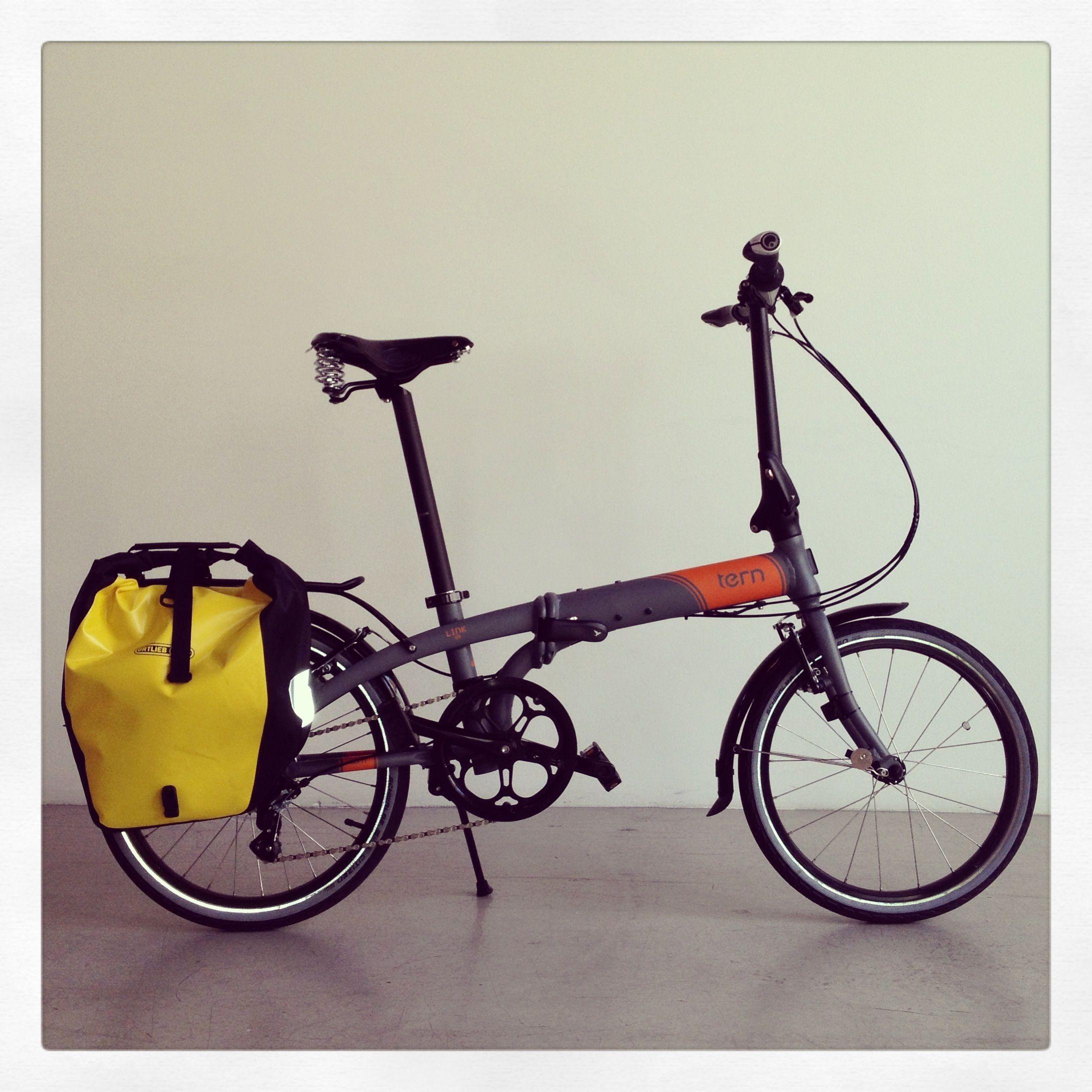 Tern Folding Bicycle Ortlieb Rear Pannier Ergon Grips Brooks Saddle