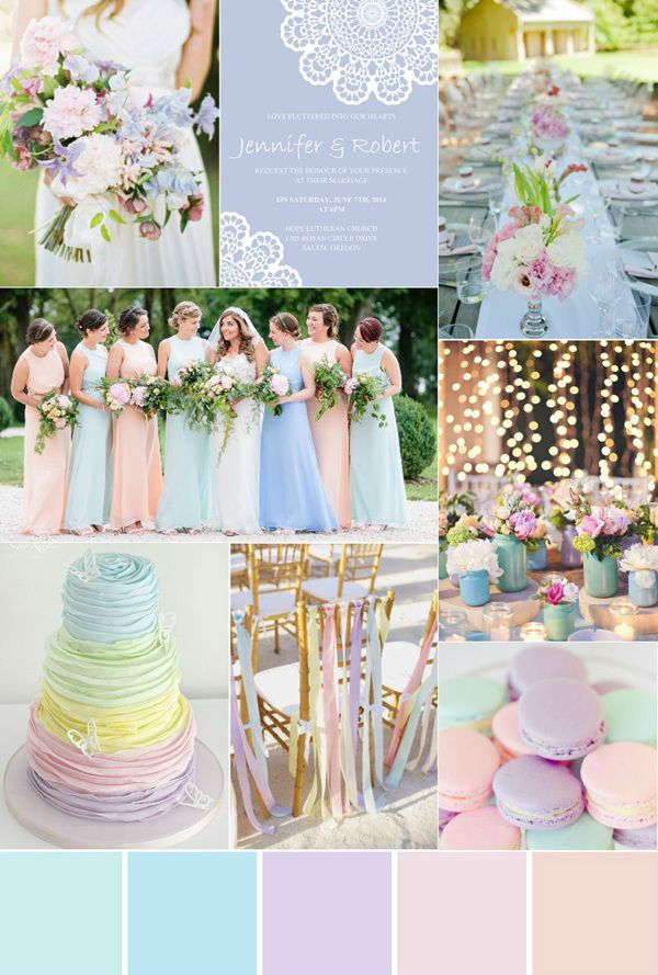Seven Gorgeous Garden Wedding Color Palettes Wedding Colors