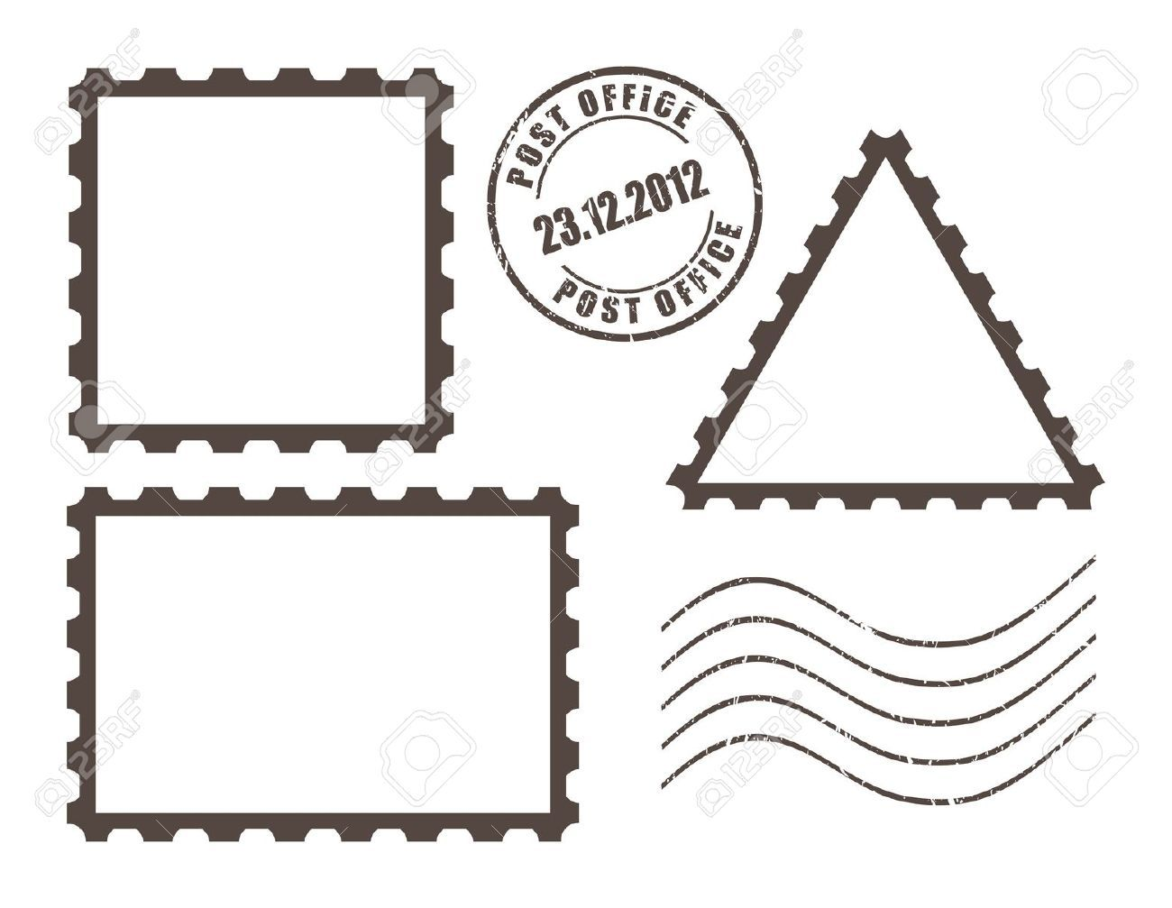 postcard clipart stamp outline #387 | Post stamp, Stamp ...