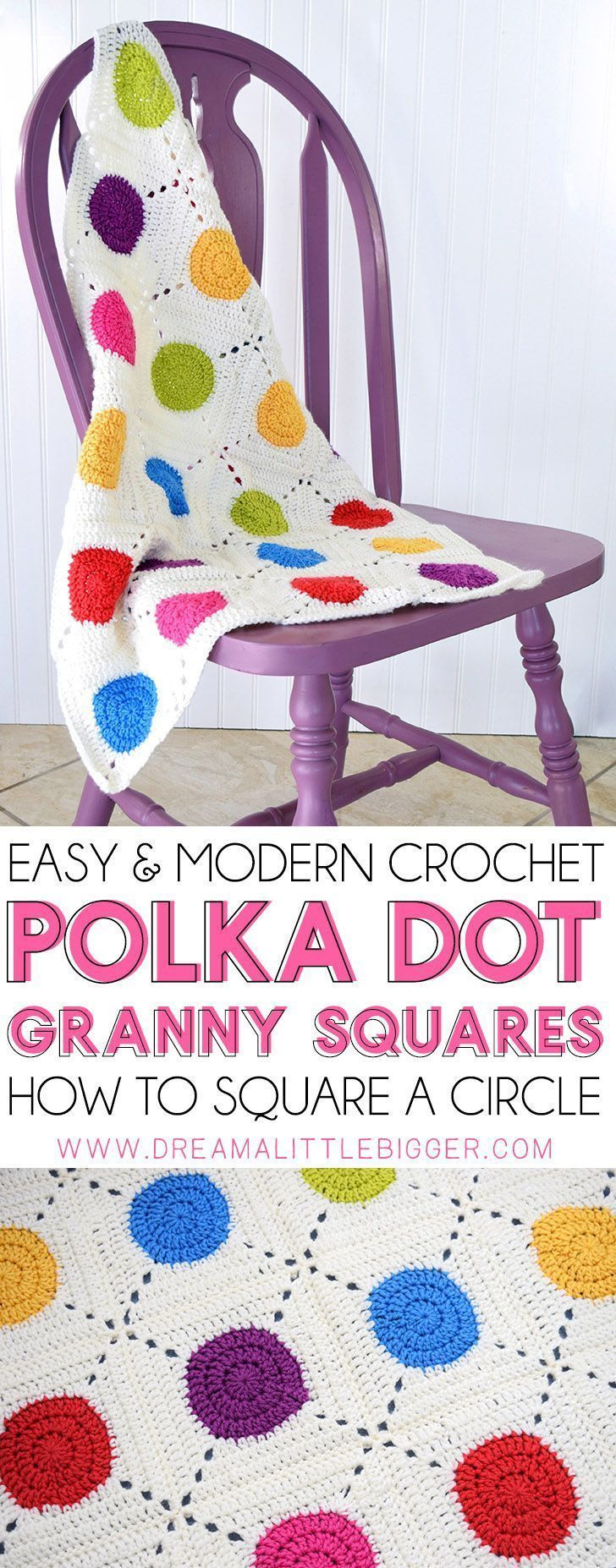 How to Make Circle Granny Squares #grannysquares