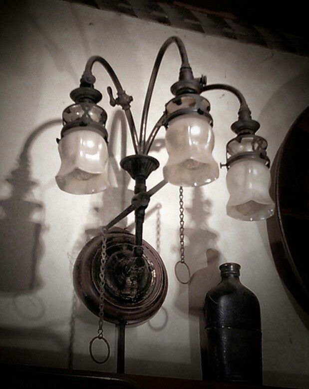 gas lamp small gas lamp of 3 lamp type of nico since the pipe was rh pinterest com Wiring Lamp with Night Light Lamp Wiring Diagram