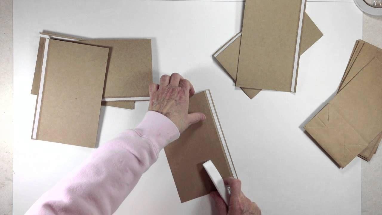 Vertical Paper Bag Mini Album Series Part 1a - Building Pages  11 video series