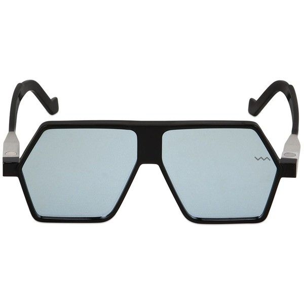 4d738243c2de Vava Men Mirrored Geometric Mask Sunglasses ( 585) ❤ liked on Polyvore  featuring men s fashion