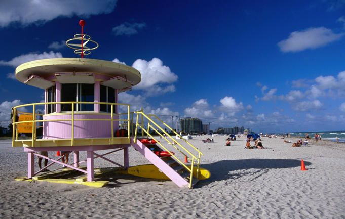 Art Deco lifesaver's watch house - Hollywood, Florida