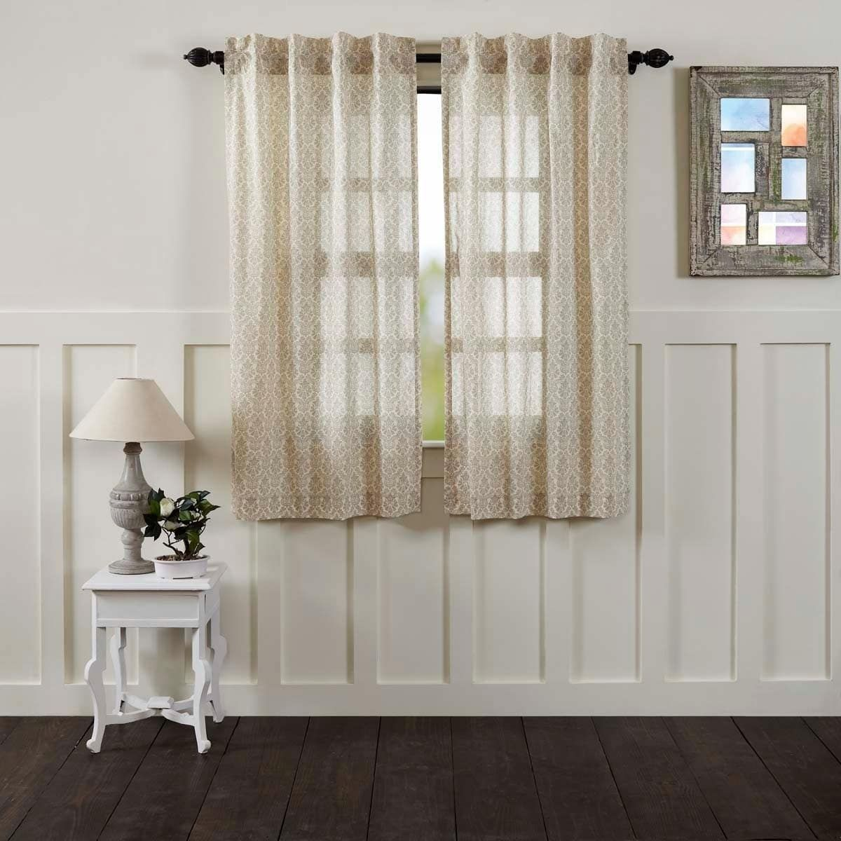 Vhc Brands Ava Lined Short Curtain Panel Set Of 2 63 X 36