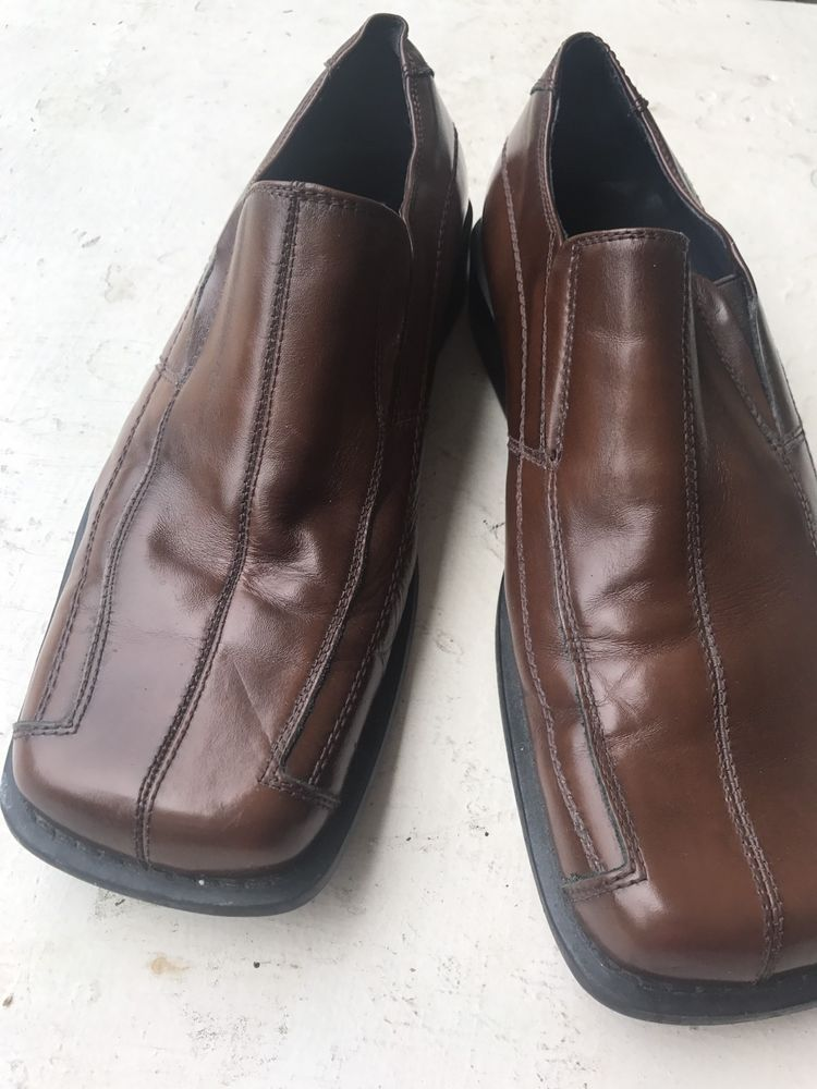 da0f39d7b09 Men s Steve Madden Loafer Square Toe Brown Dress Leather Shoes Size 8  P-Fire  SteveMaddenMen  LoafersSlipOns